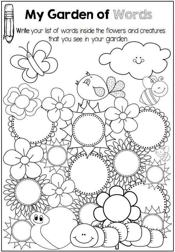 Free word work pages to use with any word list. | Kinder Kids ...