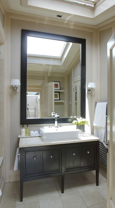 I love the oversize mirror in this bathroom and the for Bathroom planner ireland