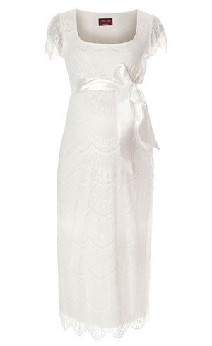 Flutter Maternity Dress Ivory - Maternity Wedding Dresses, Evening Wear and Party Clothes by Tiffany Rose