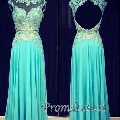 Modest prom dresses long, green lace ball gown for teens, 2016 unique handmade long evening dress for teens www.promdress01.c... #coniefox #2016prom