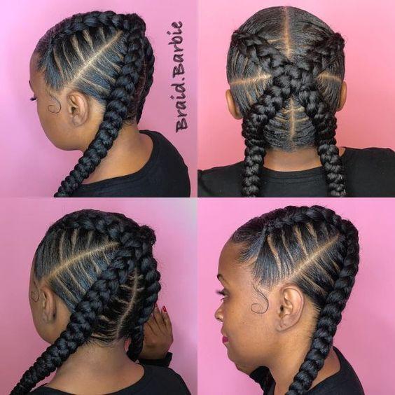 Criss-Cross Goddess Braids, braided hairstyles for 2021