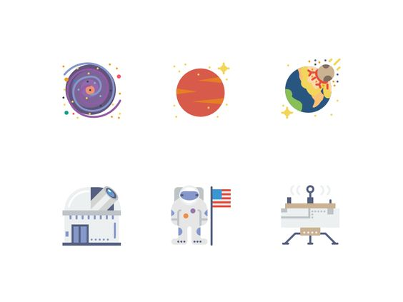 Smashicons Space Icons -  Flat Version by Oliver