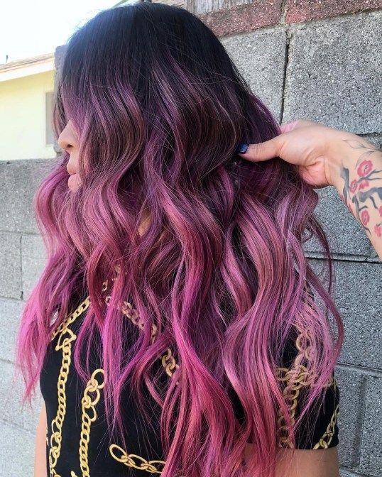 30 Lovely Purple Hair Color Ideas Trending In 2020 Summer Hair Color For Brunettes Hair Color Purple Hot Pink Hair