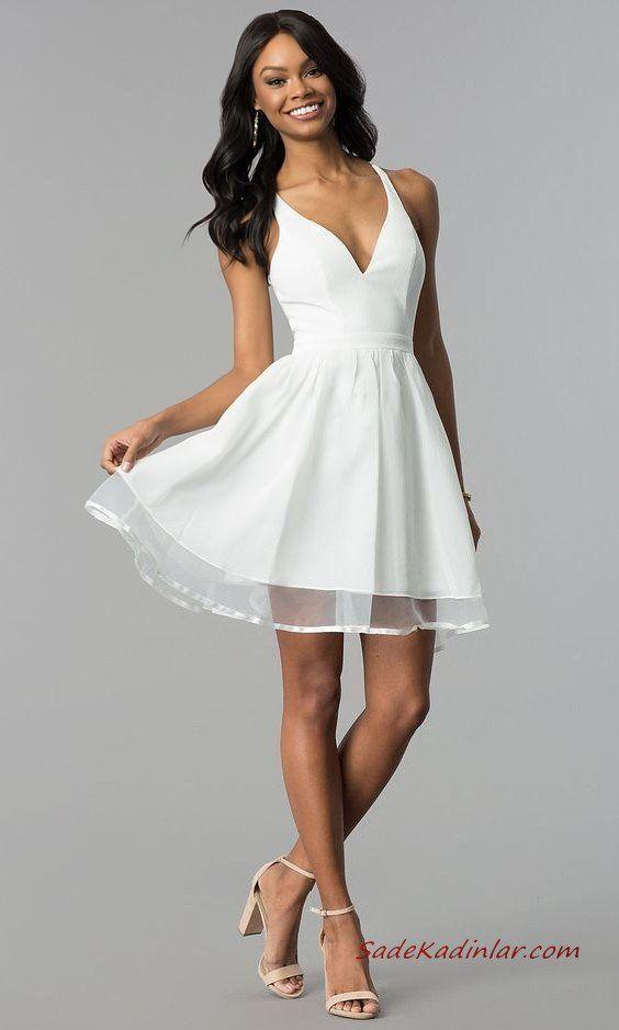 Genc Kizlar Icin Sade Ve Zarif Sik Abiyeler 2020 2020 The Dress Kisa Elbiseler Balo Kiyafeti