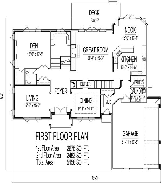 5 bedroom 2 story 5000 sq ft house floor plans stone and for 5000 sq ft house plans