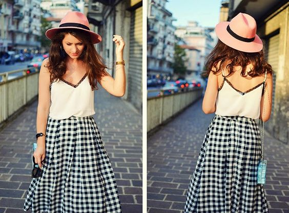 REINVENT YOURSELF: Checkered skirt