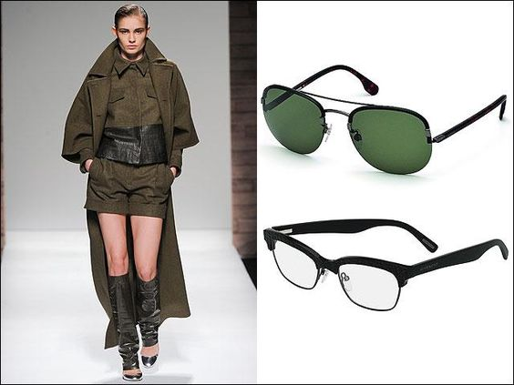 One look, two glasses: Max Mara; Diesel Shades; Givenchy by Riccardo Tisci
