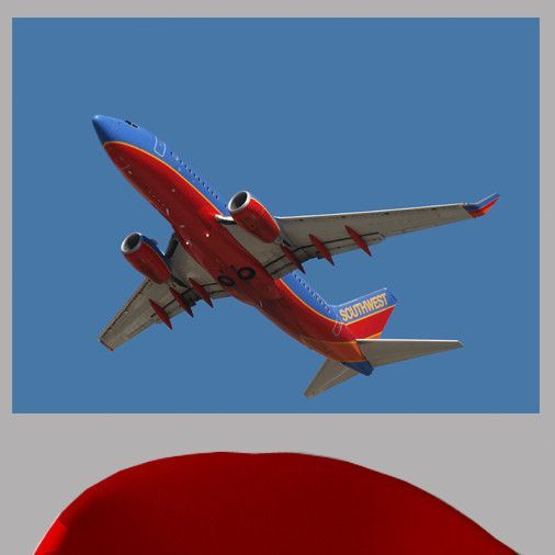 Chibi Southwest 737 Flyover Wall Mural