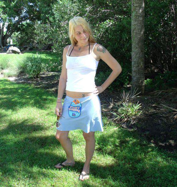 Where the Boys Are Sale Upcycled TShirt Skirt Fort by SunRaeStyle