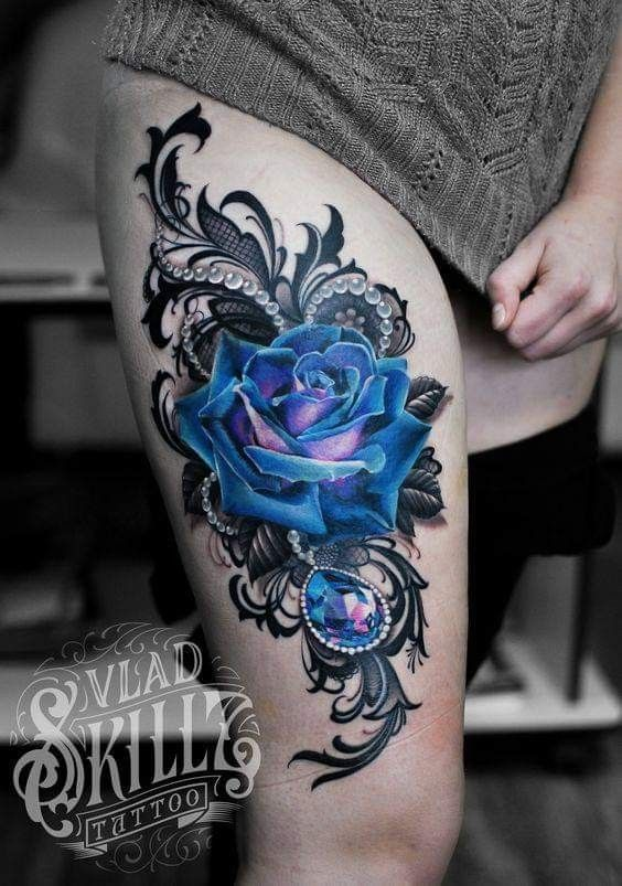 Love These Colors Lace Flower Tattoos Lace Tattoo Lace Tattoo Design
