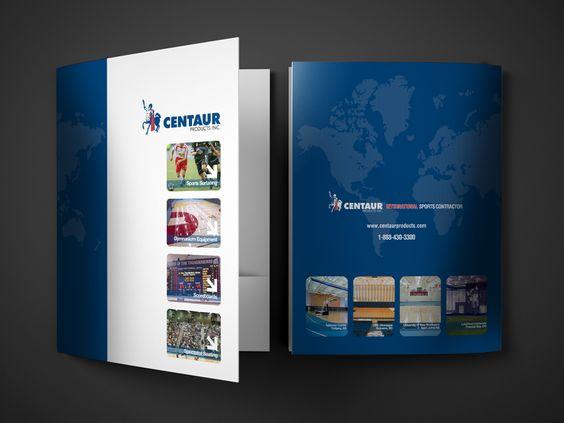 Presentation folder design for sports contracting company Print - resume presentation folder