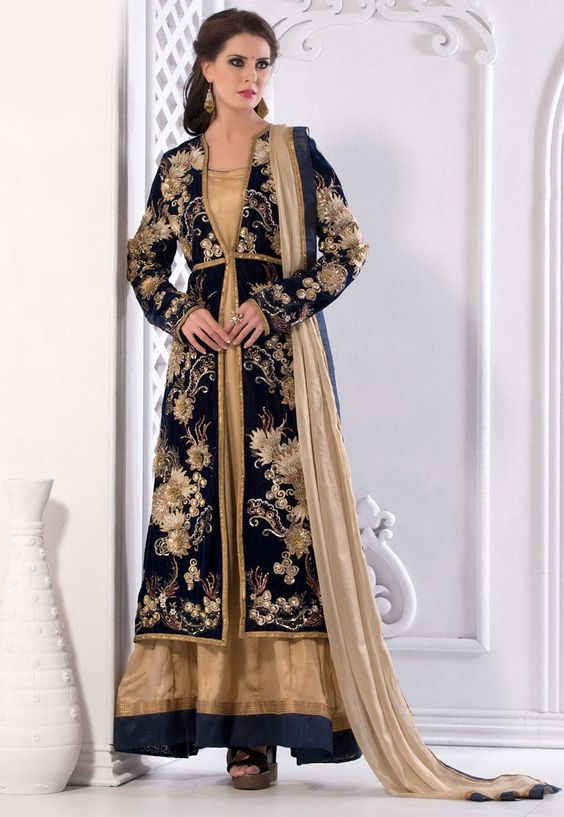 #Cream #Shimmer #Chuddidar #Kameez with #Dupatta  #Cream #Shimmer #kameez designed with Heavy Zari,Resham #Embroidery With #Stone #Work And Lace Border Work.   INR: 8,194 only  With #Amazing #Discounts  Grab At http://tinyurl.com/nubj6pj