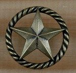 Texas Star & Rope Drawer & Cabinet Pull   Rustic Drawer Pulls