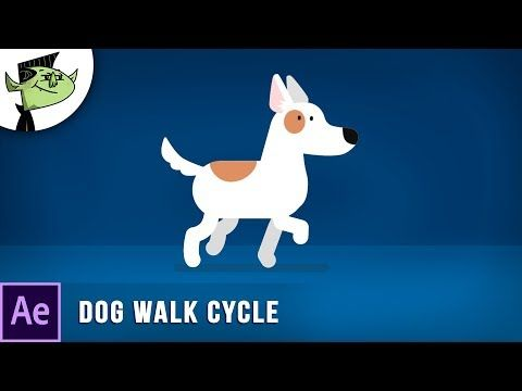 Animate Cartoon Dog Walking Cycle In After Effects Youtube Animated Cartoons Dog Walking Motion Graphics Inspiration
