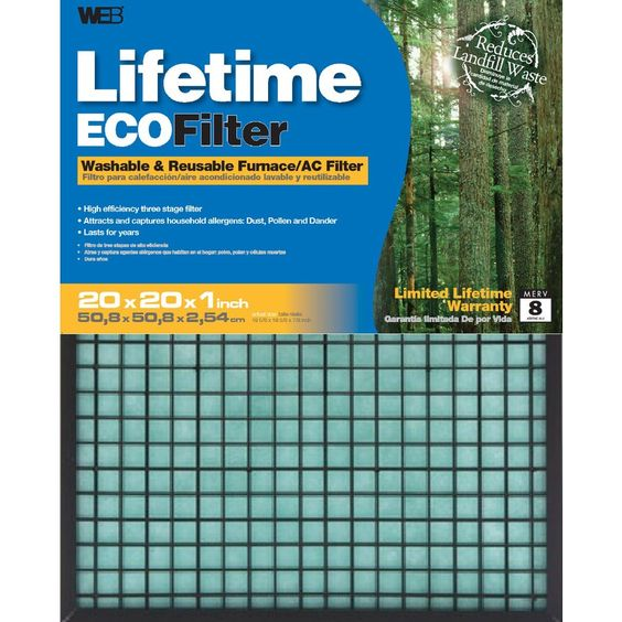 WEB Washable Electrostatic Air Filter (Common: 20-in x 20-in x 1-in; Actual…