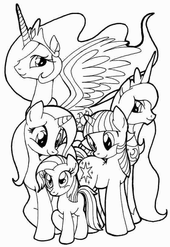 ausmalbilder einhorn my little pony  coloring and drawing