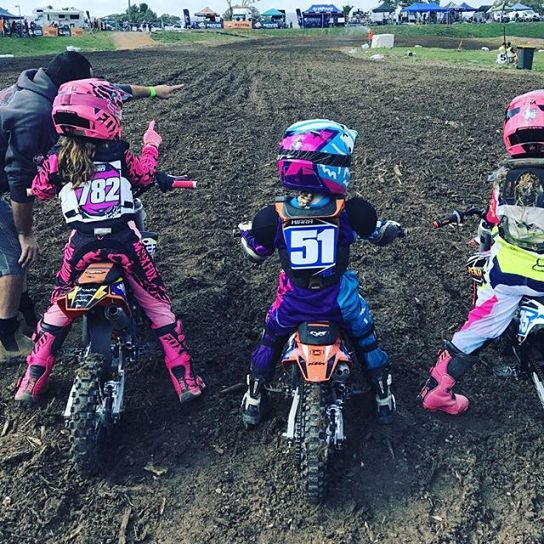 This Will Be My Youngest Anything With A Motor Especially A Bike Dirt Bike Girl Dirt Bikes For Kids Motocross Girls