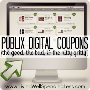 Publix Digital Coupons {the good, the bad, & the nitty gritty}  Explains everything you need to know about the new digital coupon system at Publix!