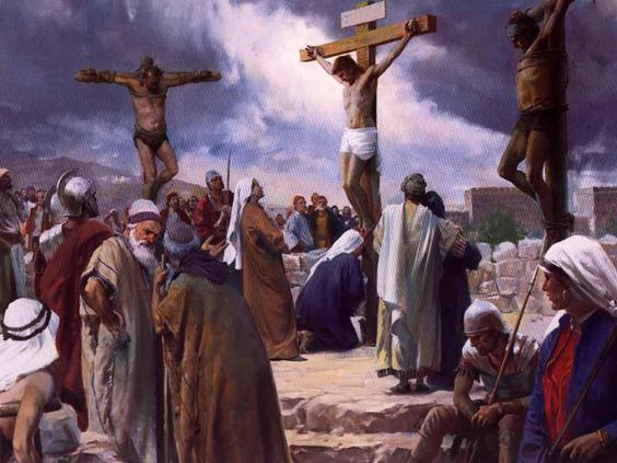 "Matthew 27: 38-44.""Then were there two thieves crucified with Him, one on the right hand, and another on the left. And they that passed by reviled Him, wagging their heads, And saying, Thou that de..."