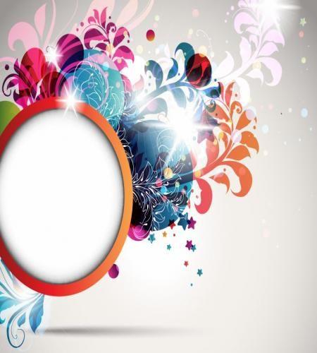 تصميم اطار مميز دائري مع ورود ملف مفتوح تحميل مباشر Vector Free Poster Background Design Vector Illustration