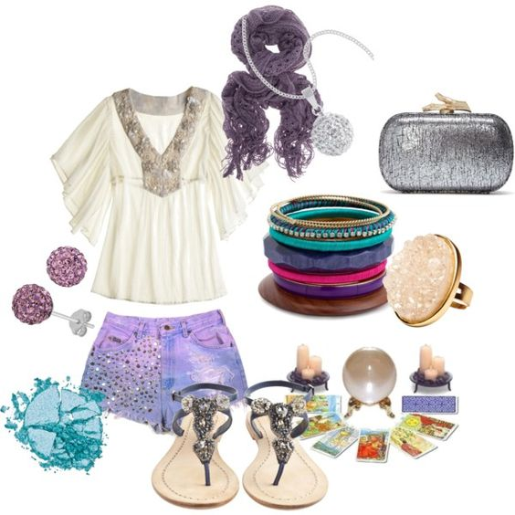 Look Into My Crystal Ball, created by #harxlily on #polyvore. #fashion #style