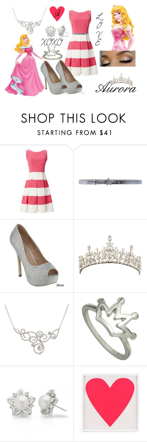"""""""Aurora For Valentine's Day!"""" by wonderlandcreations ❤ liked on Polyvore featuring Kate Spade, Just Cavalli, Disney, Allurez, women's clothing, women's fashion, women, female, woman and misses"""