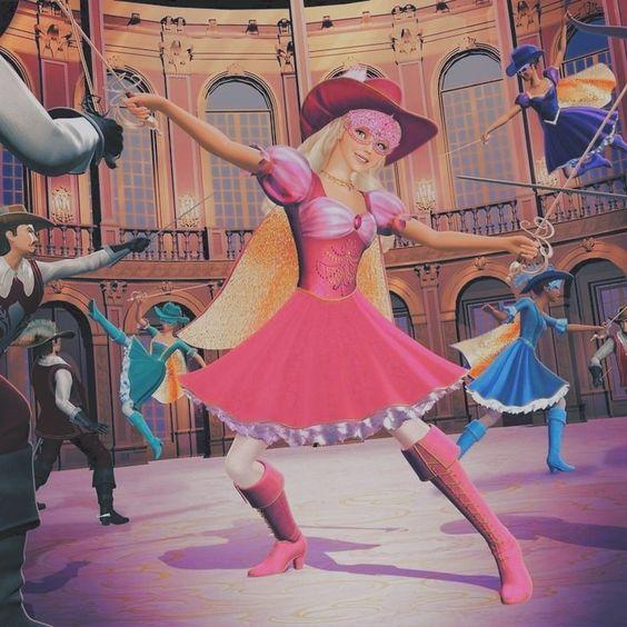 Pelicula Barbie Y Las Tres Mosqueteras Barbie Dress Barbie Images Barbie