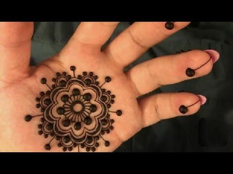simple mehndi designs for kids front