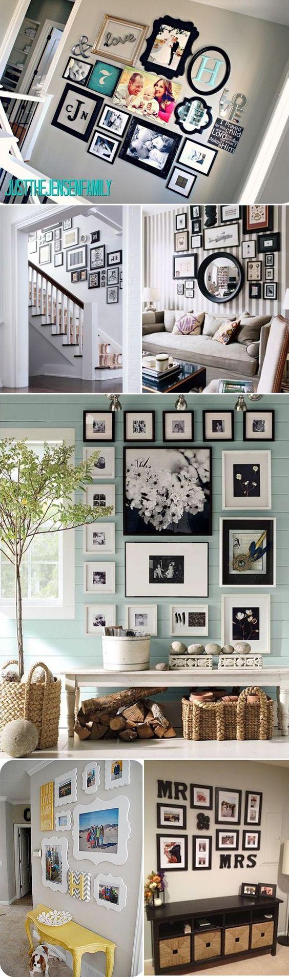Gallery walls - elegant decor