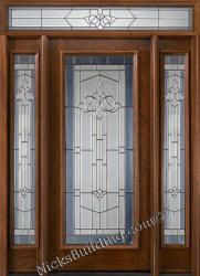 Mahogany Exterior Doors with Sidelights and Transoms 68 entry