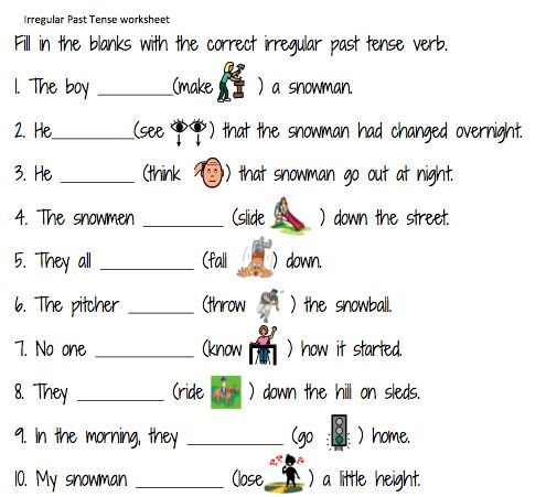 Simple Past Tense Worksheets For Grade 1 Free Worksheets Samples