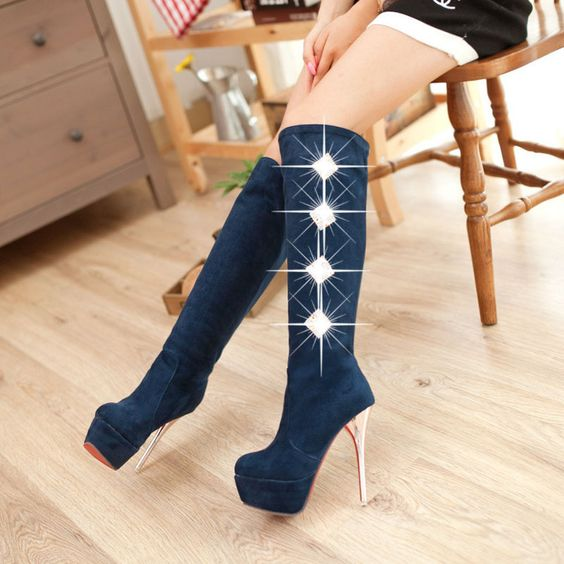 Rhinestone Knight Knee Boots  #buy it at  ReShop Store  here http://www.reshopstore.com/products/rhinestone-knight-knee-boots