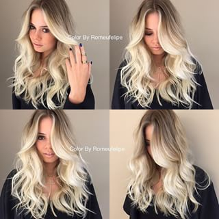 A perfect blonde balayage ombre