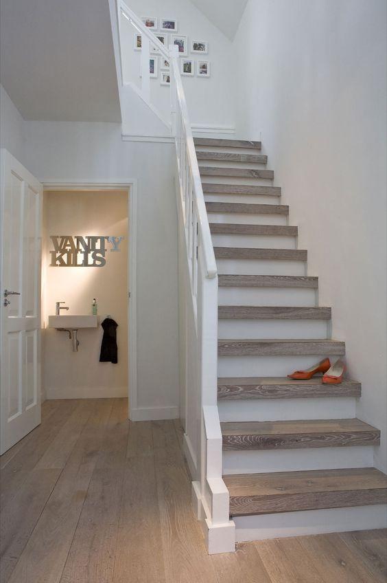 escalier deux tons