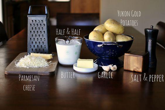 Garlic mashed potatoes, Mashed potatoes and Parmesan on Pinterest