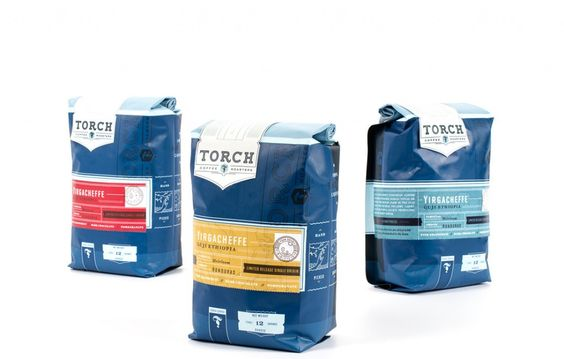 Torch Coffee Roasters by Chen Design Associates  #packaging #unique #creative #design #branding #marketing #JablonskiMarketing #inspiration