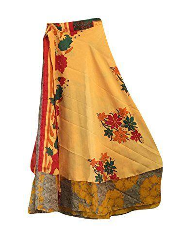 Bohemian Wrap Around Silk Skirt Yellow Floral Reversible ... https://www.amazon.com/dp/B01NCOG934/ref=cm_sw_r_pi_dp_x_oZXzyb8CBJXM5