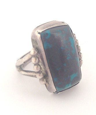 Navajo Sterling Silver Bisbee Turquoise Ring Size 7 75 | eBay $250.00 Buy it Now