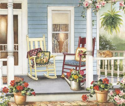 Sanry lynam clough garden pinterest search for Country porch catalog