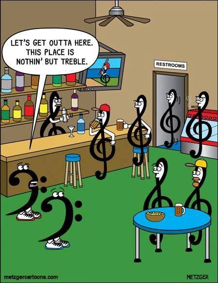 Nothin' but treble... #jokes #music #humor