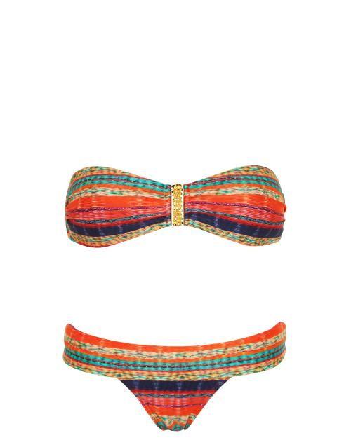Vix Swimwear Portia Square Bandeau Bikini Set in Multi #SS14SWIM #VivaLaFiesta #figleaves