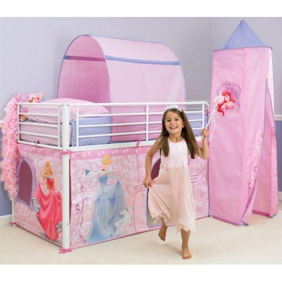 Une aire de jeux directement dans la chambre de votre enfant superbe tente de lit princesse for Chambre princesse disney