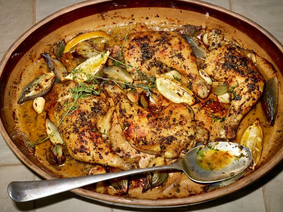 ... herbes de Provence until it has gone crisp above the fat and wine and