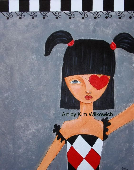 Circus Girl - Art by Kim Wilkowich