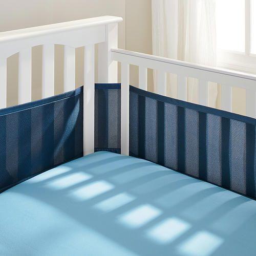 "Breathable Baby Mesh Crib Liner - True Navy - BreathableBaby - Babies ""R"" Us"