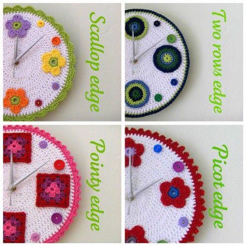 Crochet clocks by crocheTime