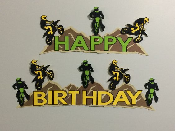 Dirt Bike Motorcross Birthday Party Banner Sign by NottJustBows