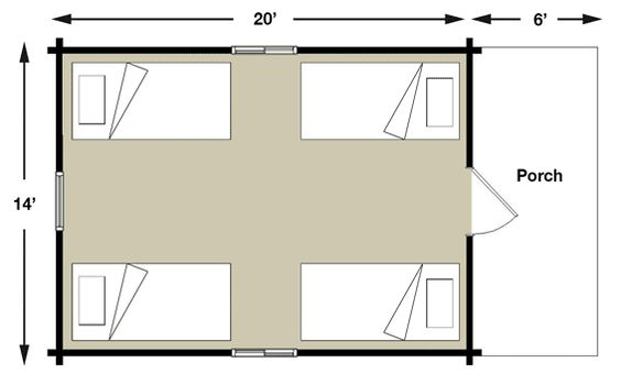 House Plans Bunkhouse And Cabin On Pinterest