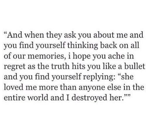 What happens when you finally move on and the one who broke your heart come back too late