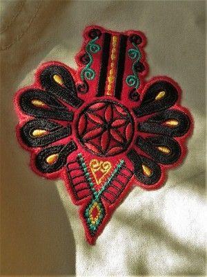 Parzenica Naszywka Z Termofolia Naprasowanka Goral Polish Folk Art Machine Embroidery Designs Folk Clothing
